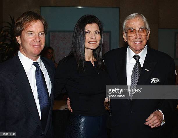 Actor Ed McMahon wife his Pam and son Jeff attend the Beverly Hills Ball 50th Anniversary Gala and benefit on April 14 2003 in Beverly Hills...