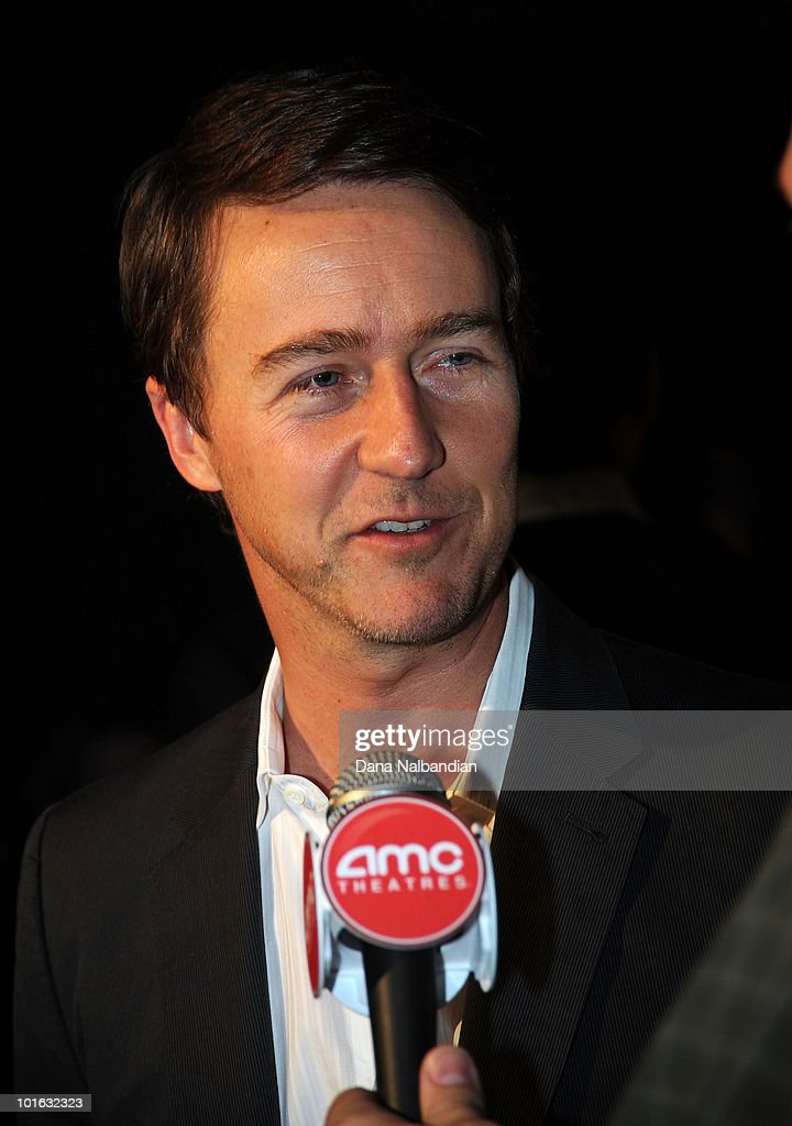 Actor Ed Norton answers questions at the Egyptian Theater, Seattle on June 4, 2010 in Seattle, Washington.