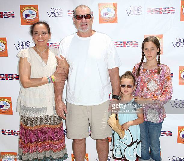 Actor Ed O' Neill and his family wife Catherine Rusoff and daughters Claire O'Neill and Sophia O'Neill attend the Sixth Annual Kidstock Music And...