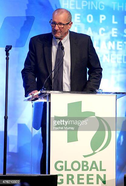 Actor Ed O'Neil speaks onstage during the Global Green USA 19th Annual Millennium Awards on June 6 2015 in Century City California