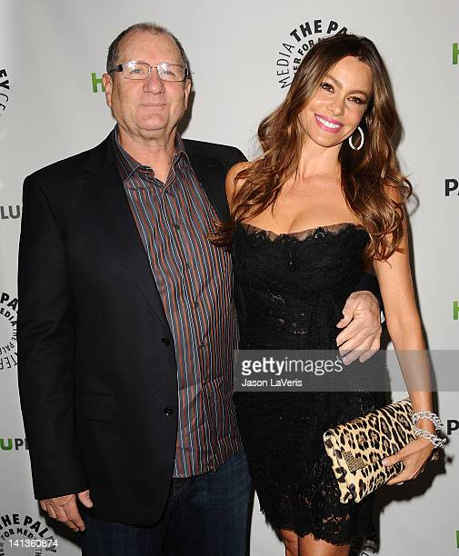Actor Ed O'Neill and actress Sofia Vergara attend the 'Modern Family' event at PaleyFest 2012 at Saban Theatre on March 14 2012 in Beverly Hills...