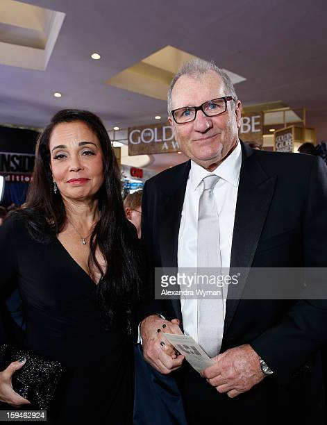 Actor Ed O'Neill and Catherine Rusoff arrive at the 70th Annual Golden Globe Awards held at The Beverly Hilton Hotel on January 13 2013 in Beverly...