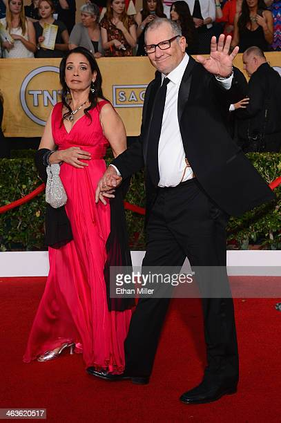 Actor Ed O'Neill and wife Catherine Rusoff attend the 20th Annual Screen Actors Guild Awards at The Shrine Auditorium on January 18 2014 in Los...