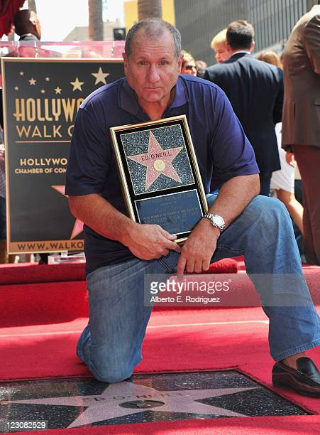 Actor Ed O'Neill attends a ceremony honoring him with the 2446th Star on the Hollywood Walk of Fame on August 30 2011 in Hollywood California