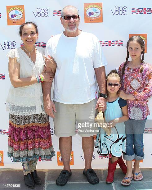 Actor Ed O'Neill wife Catherine Rusoff and daughters Claire O'Neill and Sophia O'Neill attend the 6th annual Kidstock music and arts festival at...