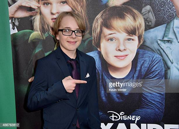 Actor Ed Oxenbould attends the premiere of Disney's Alexander and the Terrible Horrible No Good Very Bad Day at the El Capitan Theatre on October 6...