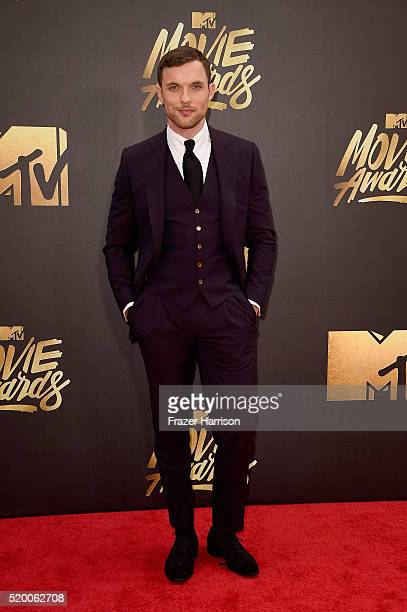Actor Ed Skrein attends the 2016 MTV Movie Awards at Warner Bros Studios on April 9 2016 in Burbank California MTV Movie Awards airs April 10 2016 at...