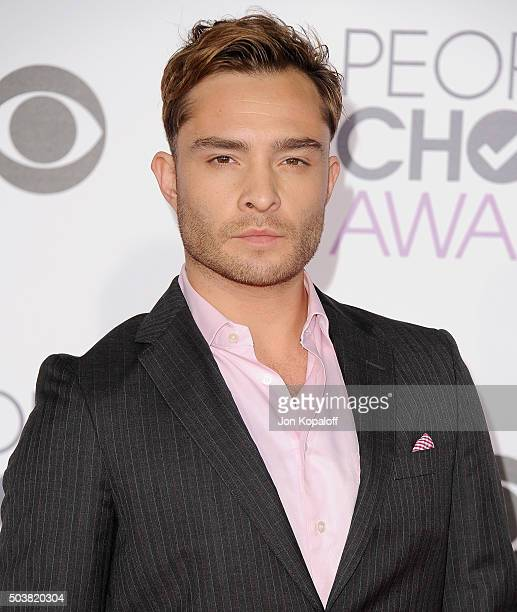 Actor Ed Westwick arrives at People's Choice Awards 2016 at Microsoft Theater on January 6 2016 in Los Angeles California