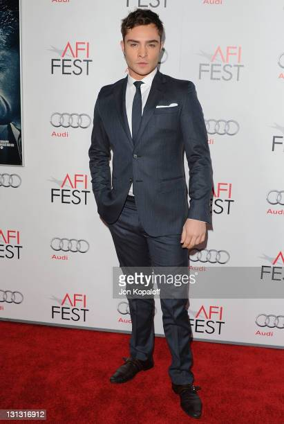 """Actor Ed Westwick arrives at the 2011 AFI FEST - Opening Night Gala - """"J. Edgar"""" Premiere at Grauman's Chinese Theatre on November 3, 2011 in..."""