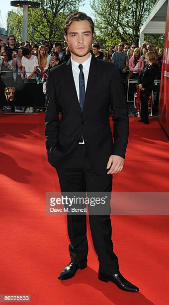 Actor Ed Westwick arrives at the BAFTA Television Awards 2009 at the Royal Festival Hall on April 26 2009 in London England
