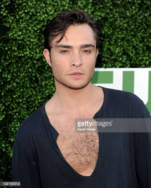 Actor Ed Westwick arrives at the CBS Showtime and CW TCA Summer Party at the Beverly Hilton Hotel on July 28 2010 in Beverly Hills California