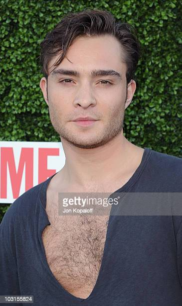 Actor Ed Westwick arrives at the CBS The CW And Showtime Summer Press Tour Party Arrivals at The Tent on July 28 2010 in Beverly Hills California
