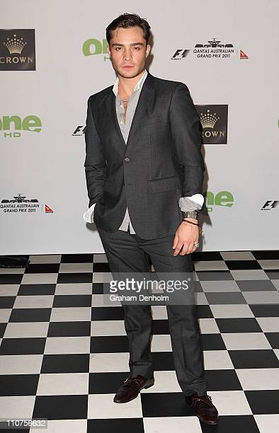Actor Ed Westwick arrives at the Official 2011 Grand Prix Party at Crown Metropol on March 24 2011 in Melbourne Australia
