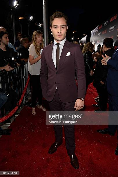 Actor Ed Westwick arrives at the premiere of Relativity Media's Romeo Juliet at ArcLight Hollywood on September 24 2013 in Hollywood California