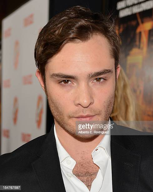 Actor Ed Westwick arrives to the premiere of Paramount Pictures' 'Fun Size' at Paramount Theater on the Paramount Studios lot on October 25 2012 in...