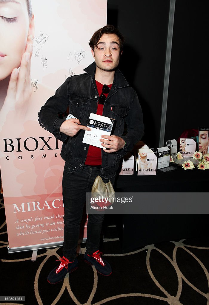 Actor Ed Westwick attends Kari Feinstein's Pre-Academy Awards Style Lounge at W Hollywood on February 21, 2013 in Hollywood, California.