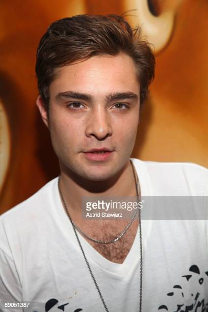 Actor Ed Westwick attends M.A.C Cosmetics' private artists' studio tour at Richard Phillips Studio on July 15, 2009 in New York City.