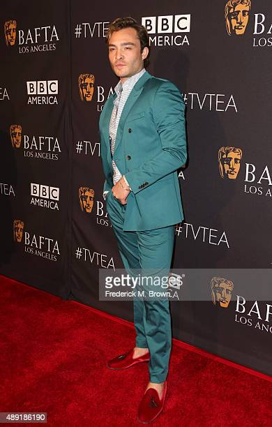 Actor Ed Westwick attends the 2015 BAFTA Los Angeles TV Tea at SLS Hotel on September 19 2015 in Beverly Hills California