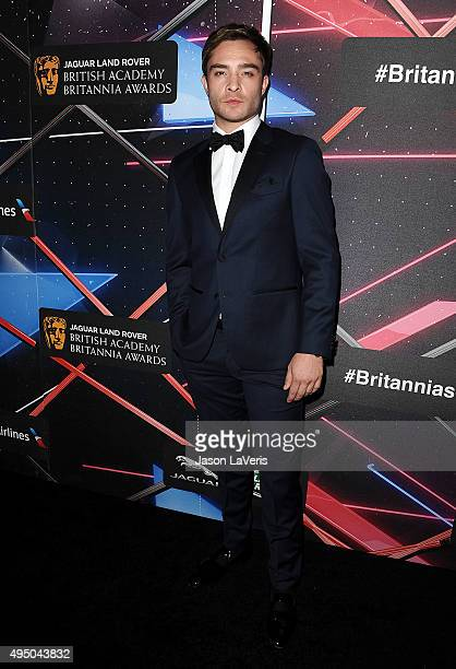 Actor Ed Westwick attends the 2015 British Academy Britannia Awards at The Beverly Hilton Hotel on October 30 2015 in Beverly Hills California