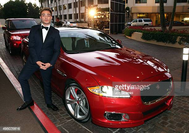 Actor Ed Westwick attends the 2015 Jaguar Land Rover British Academy Britannia Awards at The Beverly Hilton Hotel on October 30 2015 in Beverly Hills...