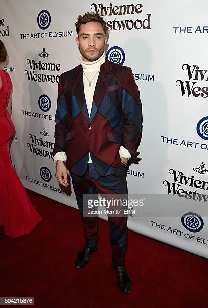 Actor Ed Westwick attends The Art of Elysium 2016 HEAVEN Gala presented by Vivienne Westwood Andreas Kronthaler at 3LABS on January 9 2016 in Culver...