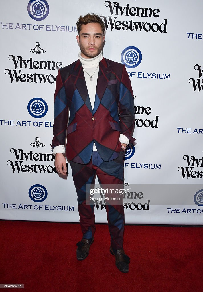 Actor Ed Westwick attends the Art of Elysium 2016 HEAVEN Gala presented by Vivienne Westwood & Andreas Kronthaler at 3LABS on January 9, 2016 in Culver City, California.