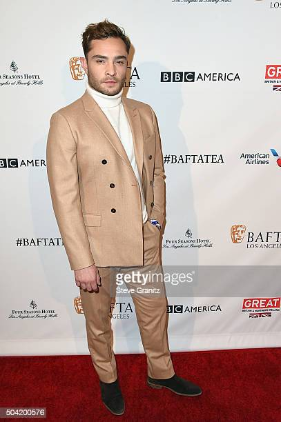 Actor Ed Westwick attends the BAFTA Los Angeles Awards Season Tea at Four Seasons Hotel Los Angeles at Beverly Hills on January 9 2016 in Los Angeles...