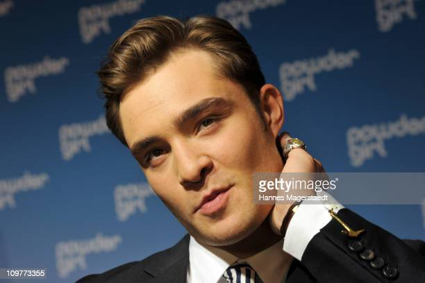 Actor Ed Westwick attends the Film Premiere of 'Powder Girl' at the Mathaeser Filmpalast on March 4 2011 in Munich Germany