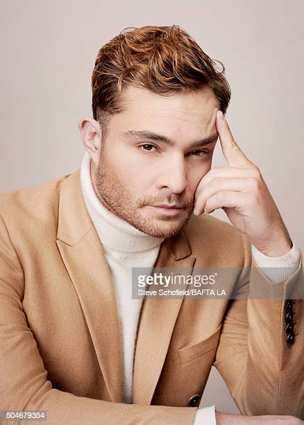 Actor Ed Westwick poses for a portrait at the BAFTA Los Angeles Awards Season Tea at the Four Seasons Hotel on January 9 2016 in Los Angeles...