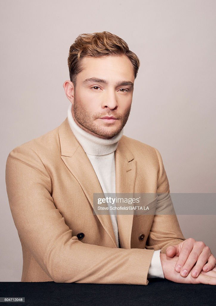 Actor Ed Westwick poses for a portrait at the BAFTA Los Angeles Awards Season Tea at the Four Seasons Hotel on January 9, 2016 in Los Angeles, California.