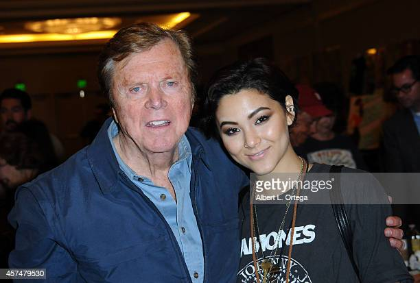 Actor Edd Burns and Fivel Stewart at The Hollywood Show held at Westin LAX Hotel on October 18 2014 in Los Angeles California
