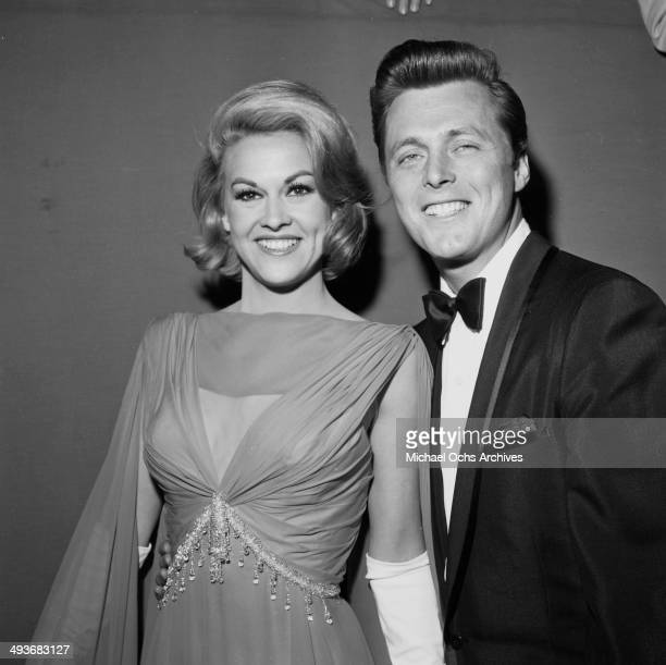Actor Edd Byrnes wife actress Asa Maynor attends a party in Los Angeles, California.