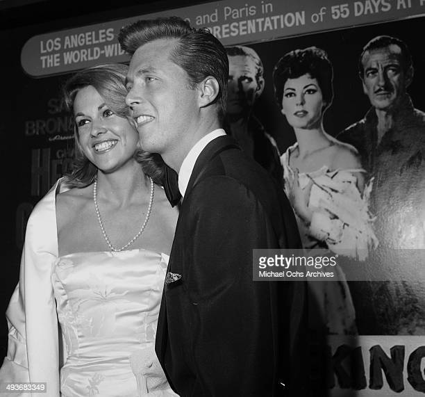 Actor Edd Byrnes wife actress Asa Maynor attends a premiere in Los Angeles, California.