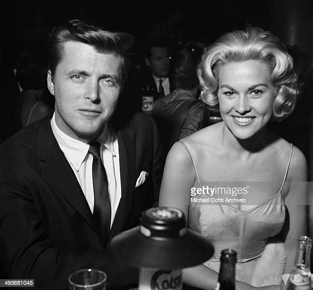 Actor Edd Byrnes with wife actess Asa Maynor attends a party in Los Angeles, California.