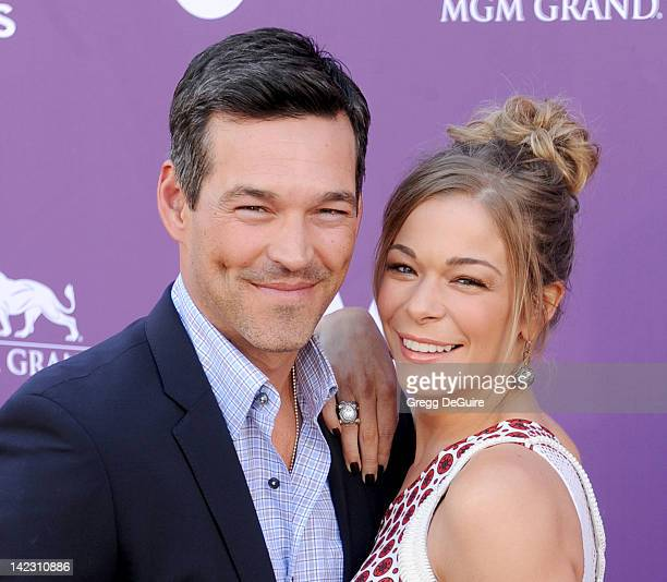 Actor Eddie Cibrian and actress/singer LeAnn Rimes arrive at the 47th Annual Academy Of Country Music Awards at MGM Grand Garden Arena on April 1...