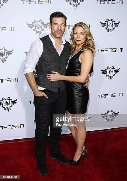 Actor Eddie Cibrian and his Wife Recording Artist LeAnn Rimes attend the TRANS4M concert benefitting The iamangel Foundation at Avalon on January 23...