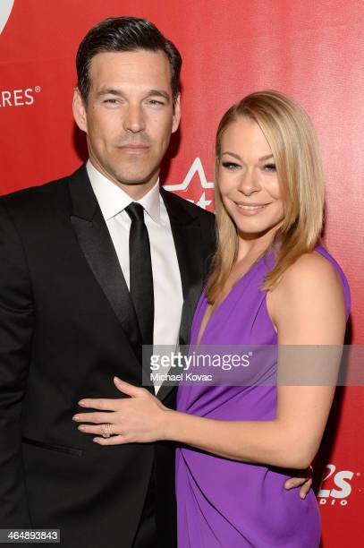 Actor Eddie Cibrian and recording artist LeAnn Rimes attend 2014 MusiCares Person Of The Year Honoring Carole King at Los Angeles Convention Center...