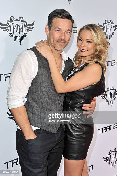 Actor Eddie Cibrian and recording artist LeAnn Rimes attend the william hosted third annual TRANS4M concert benefitting the iamangel Foundation at...