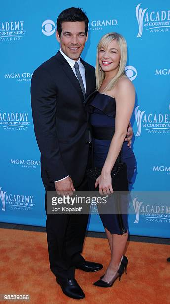 Actor Eddie Cibrian and singer LeAnn Rimes arrive at the 45th Annual Academy Of Country Music Awards at the MGM Grand Garden Arena on April 18 2010...