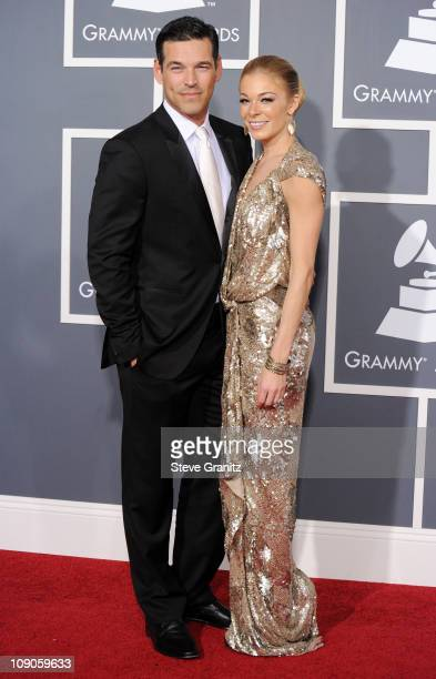 Actor Eddie Cibrian and singer Leann Rimes arrive at The 53rd Annual GRAMMY Awards held at Staples Center on February 13 2011 in Los Angeles...