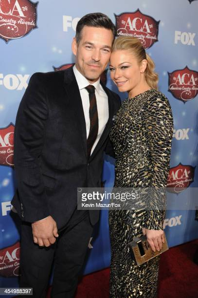Actor Eddie Cibrian and singer LeAnn Rimes arrive at the American Country Awards 2013 at the Mandalay Bay Events Center on December 10, 2013 in Las...