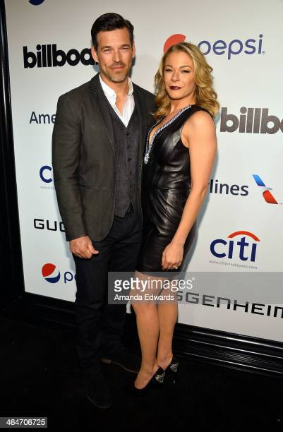 Actor Eddie Cibrian and singer LeAnn Rimes arrive at the Billboard 2nd Annual Power 100 Cocktail Reception at the Emerson Theater on January 23 2014...