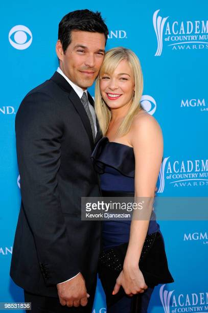 Actor Eddie Cibrian and singer LeAnn Rimes arrive for the 45th Annual Academy of Country Music Awards at the MGM Grand Garden Arena on April 18 2010...
