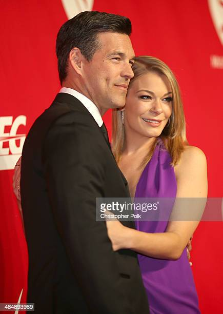Actor Eddie Cibrian and singer LeAnn Rimes attend 2014 MusiCares Person Of The Year Honoring Carole King at Los Angeles Convention Center on January...