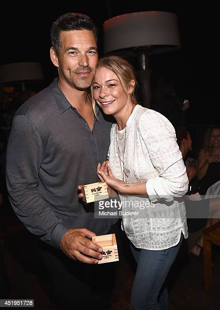 Actor Eddie Cibrian and singer LeAnne Rimes attend the premiere of Season 2 of Showtime's Ray Donovan presented by Time Warner Cable at Nobu Malibu...