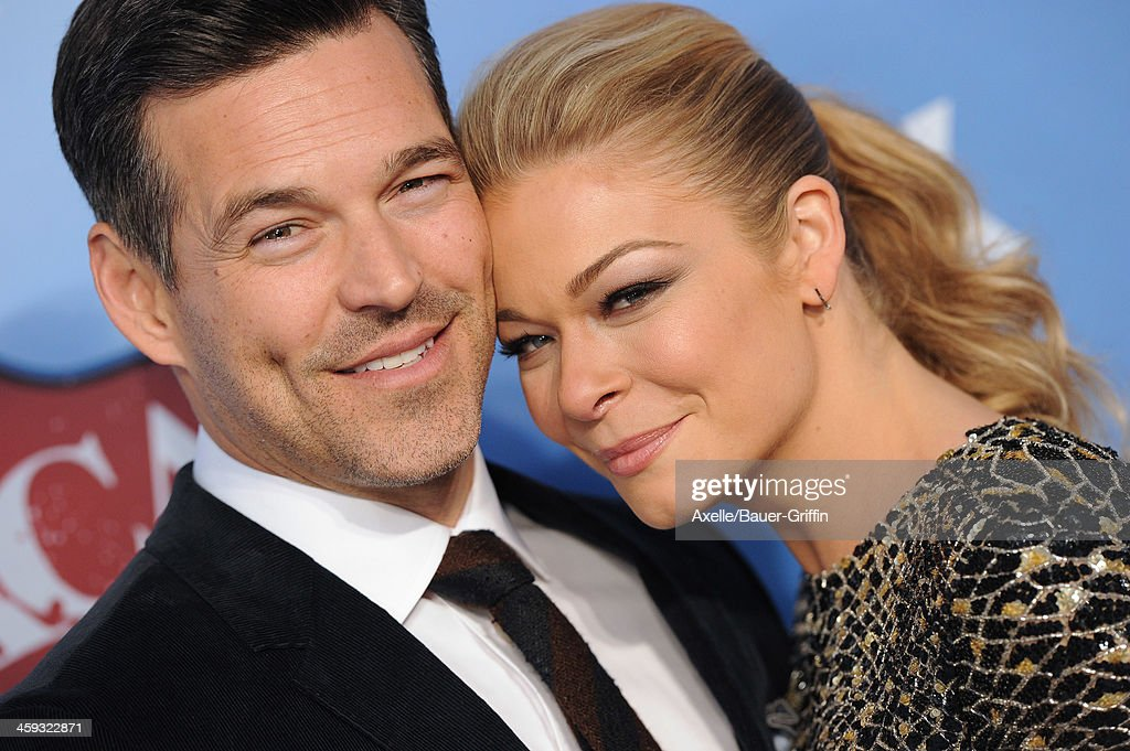 Actor Eddie Cibrian and wife singer LeAnn Rimes arrive at the American Country Awards 2013 at the Mandalay Bay Events Center on December 10, 2013 in Las Vegas, Nevada.