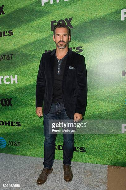 Actor Eddie Cibrian arrives at the premiere of Fox's 'Pitch' at West LA Little League Field on September 13 2016 in Los Angeles California