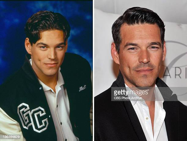 In this composite image a comparison has been made of actor Eddie Cibrian Many of today's leading Hollywood stars began their careers in daytime...