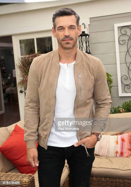 Actor Eddie Cibrian visit Hallmark's Home Family at Universal Studios Hollywood on June 18 2018 in Universal City California