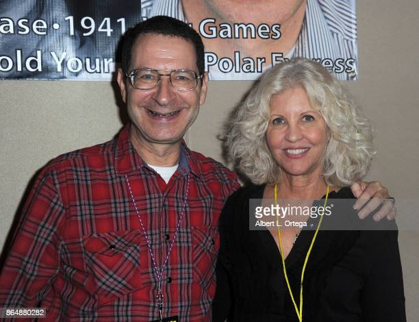 Actor Eddie Deezen and actress Nancy Allen at The Hollywood Show held at Westin LAX Hotel on October 21 2017 in Los Angeles California